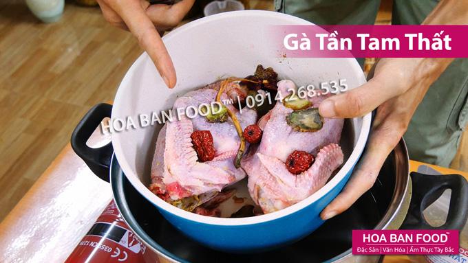 Gà Tần Tam Thất | HOA BAN FOOD