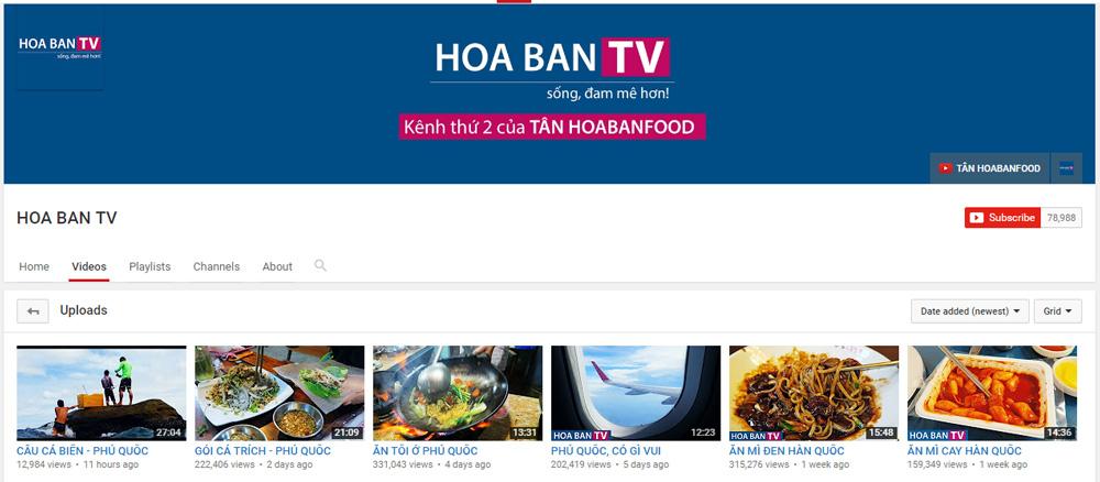 Kênh Youtube thứ 2 của TÂN HOABANFOOD